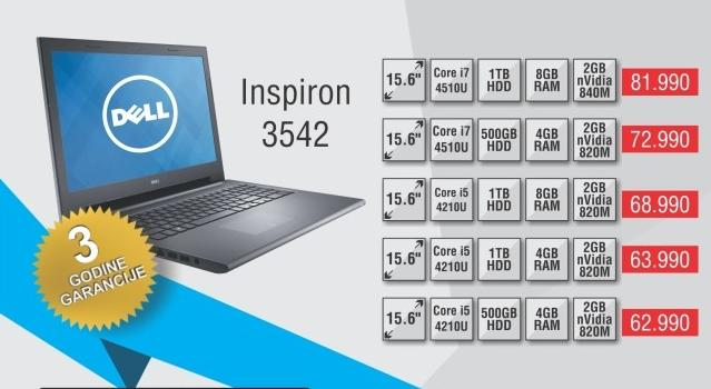 Laptop Inspiron 3542