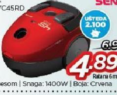 Usisivač akumulatorski SVC 45RD