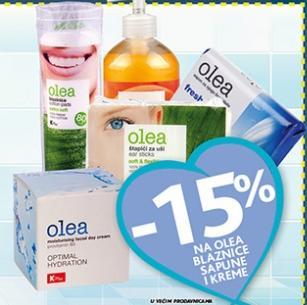 -15% na Olea blaznice, sapune i kreme