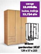 Garderober MILANO 3K3F wenge