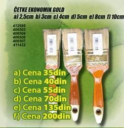 Četka Ekonomik Gold 2.5cm
