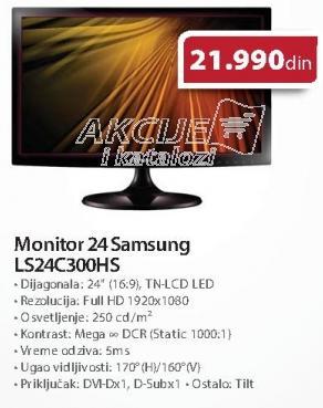 """Monitor LED 24"""" LS24c300hs"""