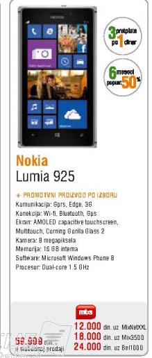 Telefon mobilni Lumia 925