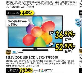 Televizor LED LCD UE-39F5000