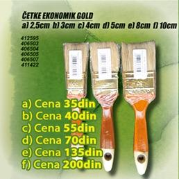 Četka Ekonomik Gold 10cm