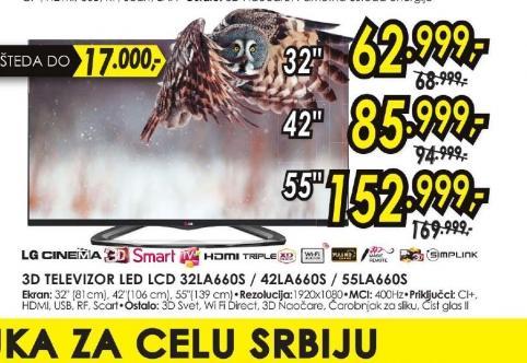 Televizor LED LCD 55LA660S