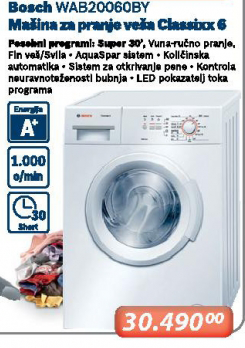 Mašina Za Pranje Veša WAB0060BY