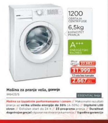 Samostalna mašina za pranje veša W6423/S