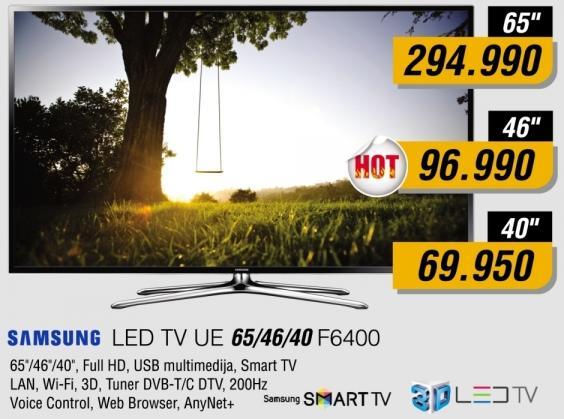 """Televizor LED 40"""" 3D UE40F6400"""