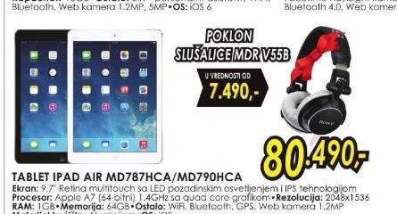 Tablet iPad Air MD787HC/A