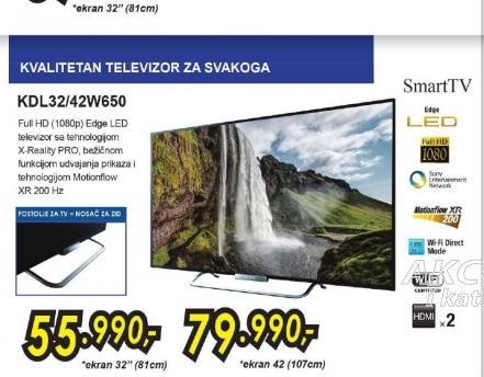 Televizor LED LCD KDL-32W650ABAEP
