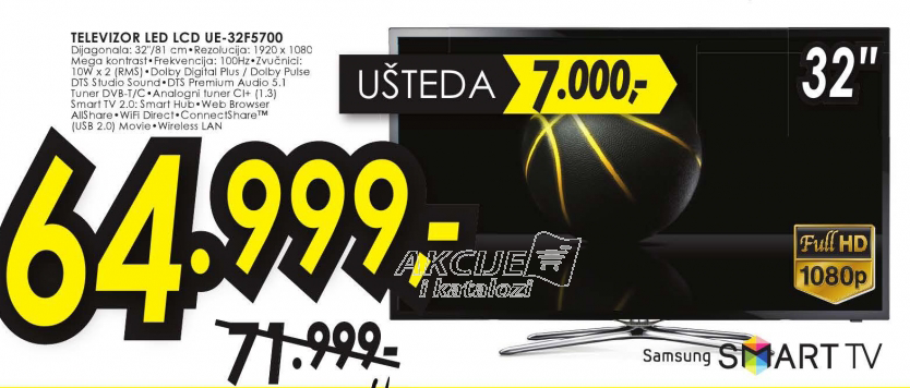 Televizor LED LCD UE-32F5700