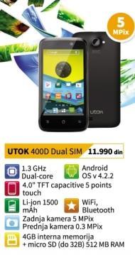 Mobilni telefon 400d Dual Sim Utok