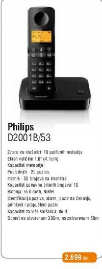 Bezicni telefon D2001B/53