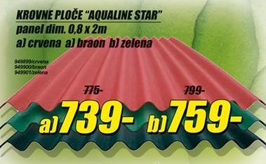 Krovne ploče Aqualine Star crvene