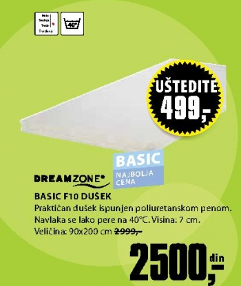 BASIC F10 DUŠEK 90X200CM