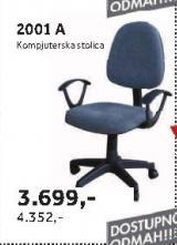 Kompjuterska stolica 2001 A