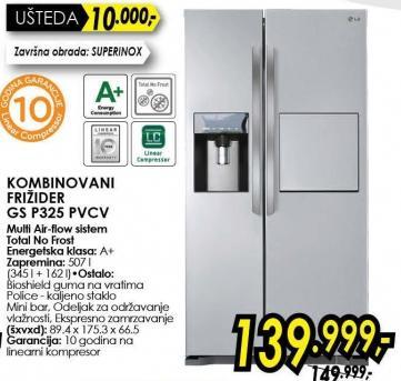 Kombinovani frižider Gs P325 Pvcv
