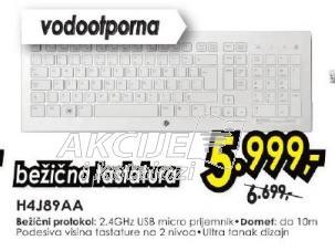 Tastatura bežična H4J89AA