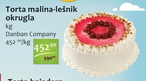 Torta malina i lešnik