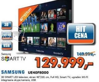 Televizor 3D LED UE40F8000