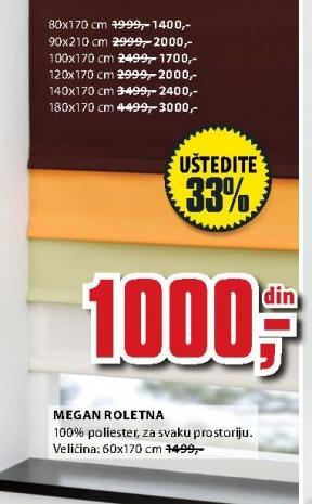 Roletna Megan 100x170cm