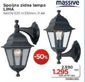 Zidna lampa Lima