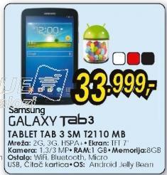 Tablet Galaxy Tab 3 SM-T2110 MB