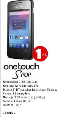 Telefon mobilni One Touch S'POP
