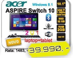 Laptop Aspire Switch 10