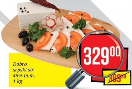 Beli sir srpski 45%mm