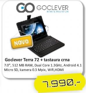 Tablet Terra 72 + Poklon tatstatura crna