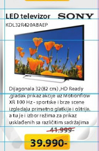 Televizor  LED KDL32R420ABAEP