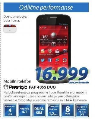 Mobilni telefon Pap 4055 Duo