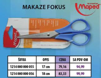 Makaze Fokus, Maped