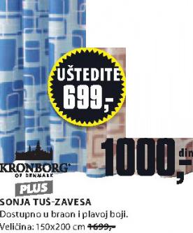Tuš zavesa Sonja, plava
