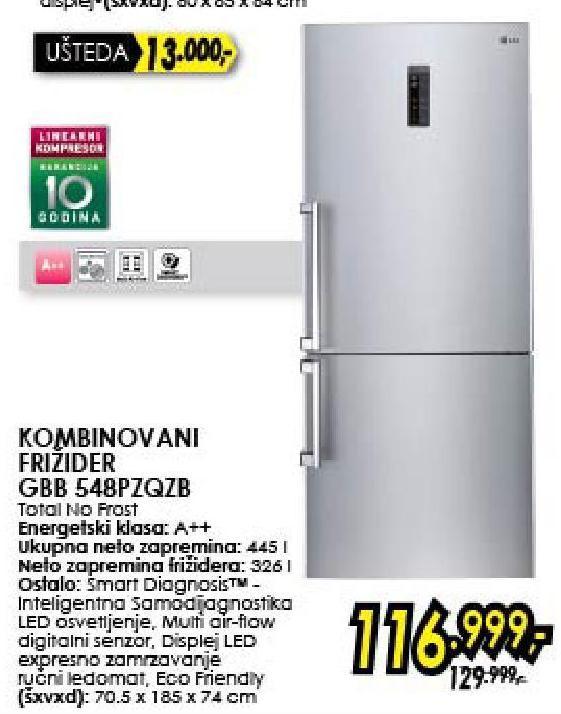 Frižider Kombinovani GBB548PZQZB