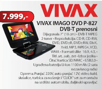 DVD prenosni P-827