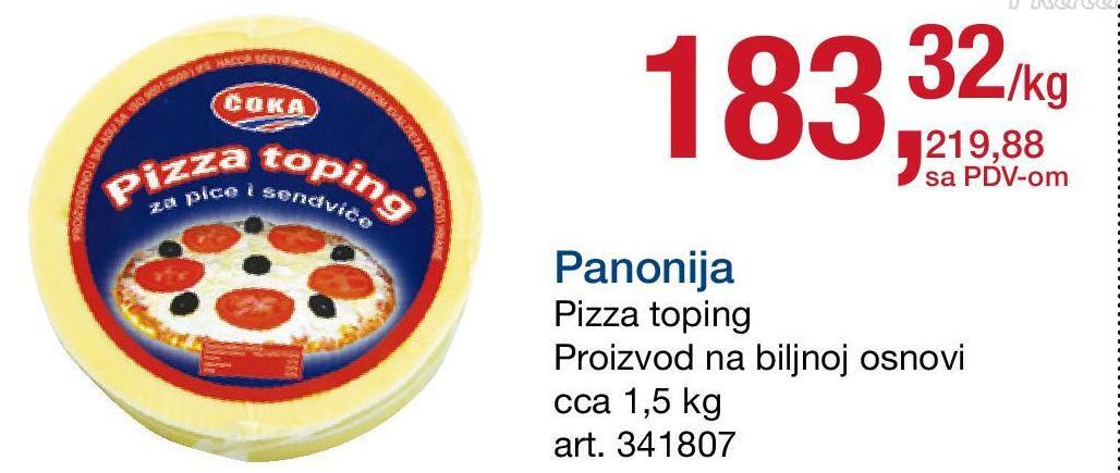 Sir biljni pizza