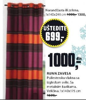 Zavesa Runn