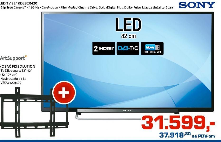 LED Televizor KDL32R420