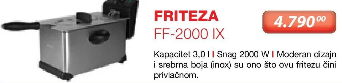 Friteza FF-2000 IX