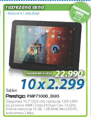 Tablet PMP7100D_DUO