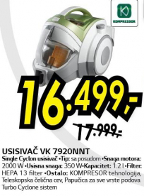 Usisivač VK 7920NNT
