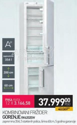 Kombinovani frižider Rk6202ew