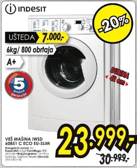 Veš mašina Iwsd 60851 C Eco Eu-Slim