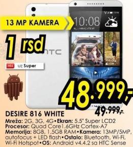 Mobilni telefon Desire 816 White