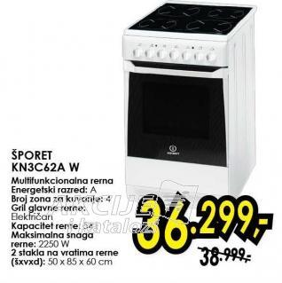 Električni šporet Kn3c62a W