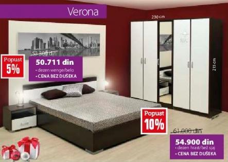 Spavaća soba Verona Wenge