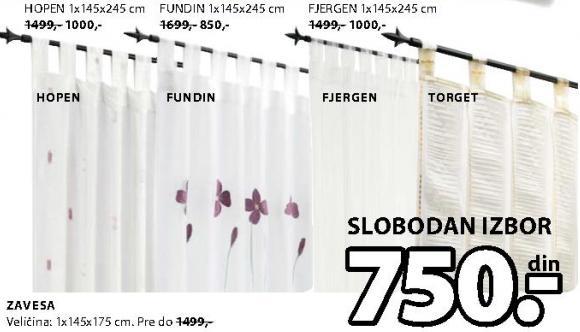 Zavesa Fjargen 1x145x175cm